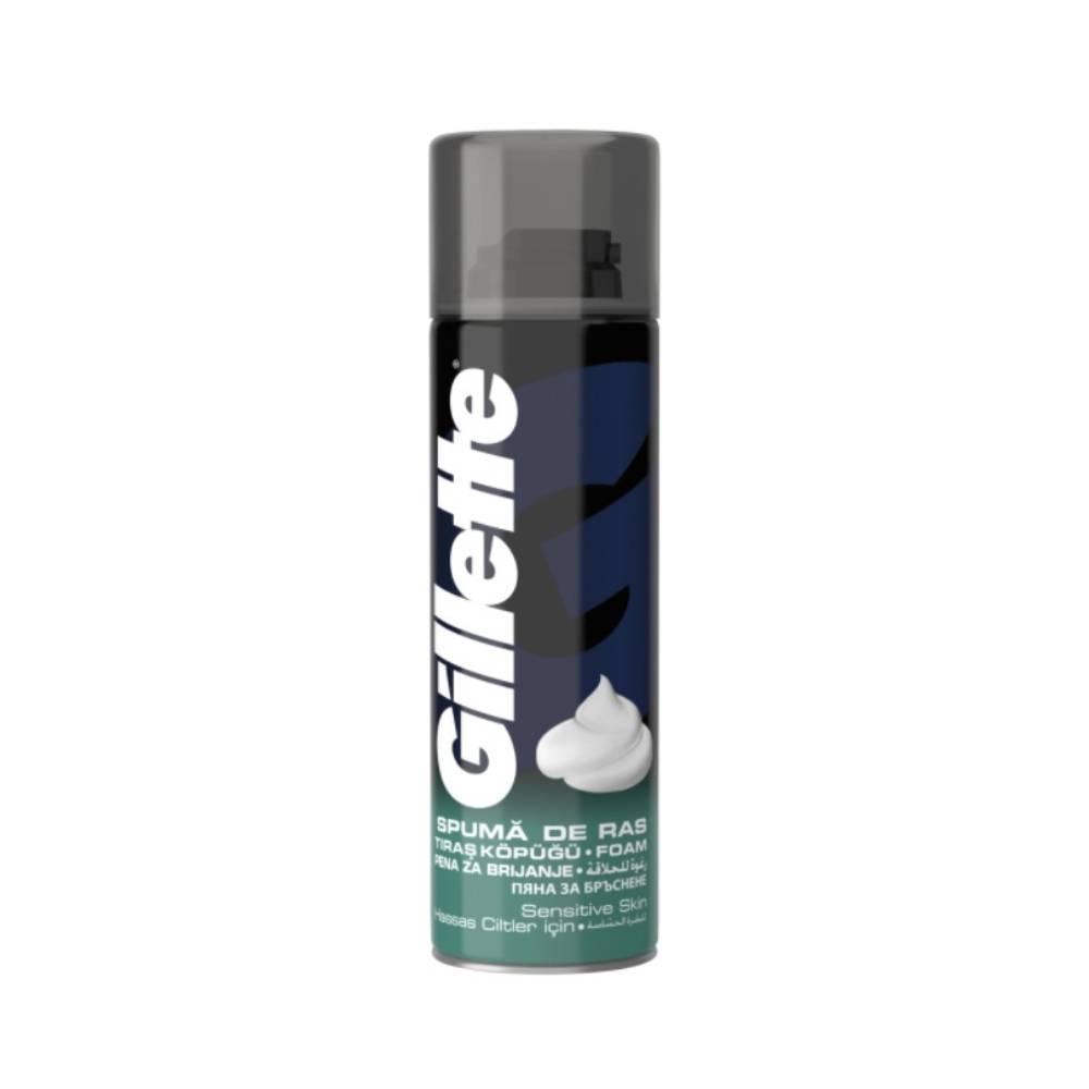Spuma de ras Gillette Piele sensibila, 200 ml imagine