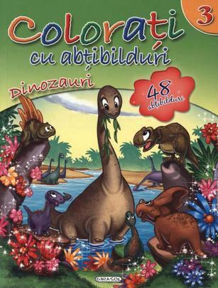 girasol - colorati cu abtibilduri 3 - dinozauri