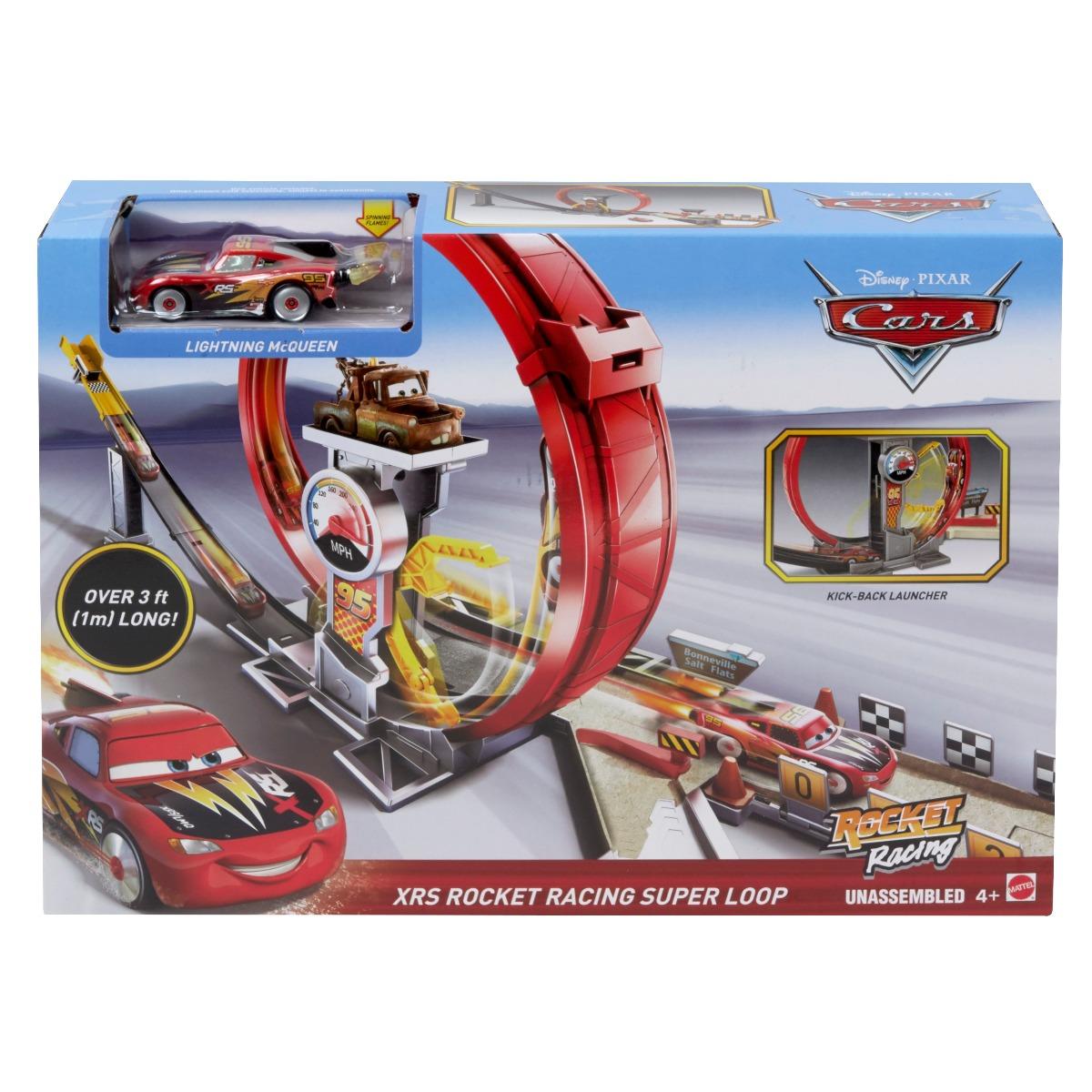 Set de joaca Circuit Disney Cars, Mega bucla masinilor racheta