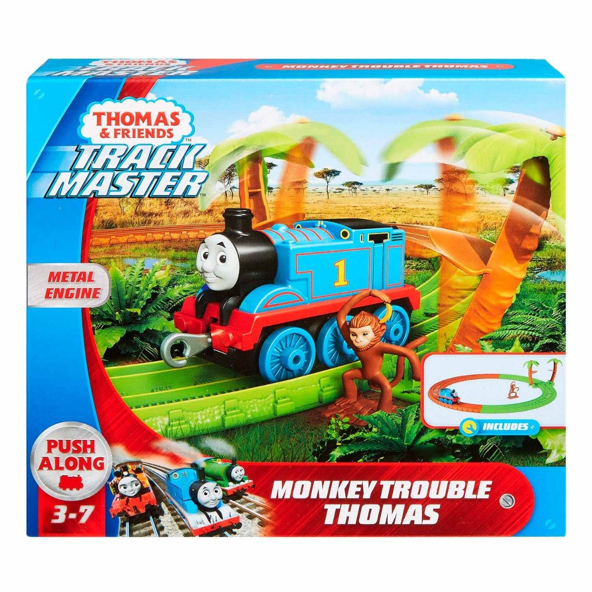 Set de joaca Circuit Thomas and Friends, Aventuri cu maimute