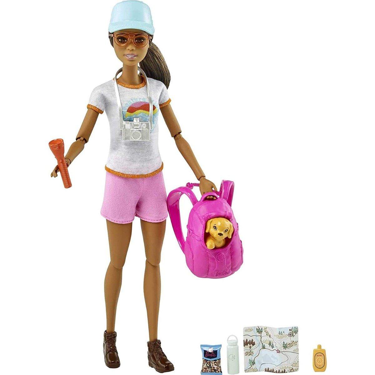Set de joaca Papusa Barbie cu accesorii Welness GRN66