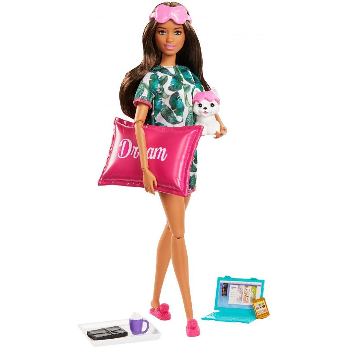Set de joaca Papusa Barbie cu accesorii Welness GJG58