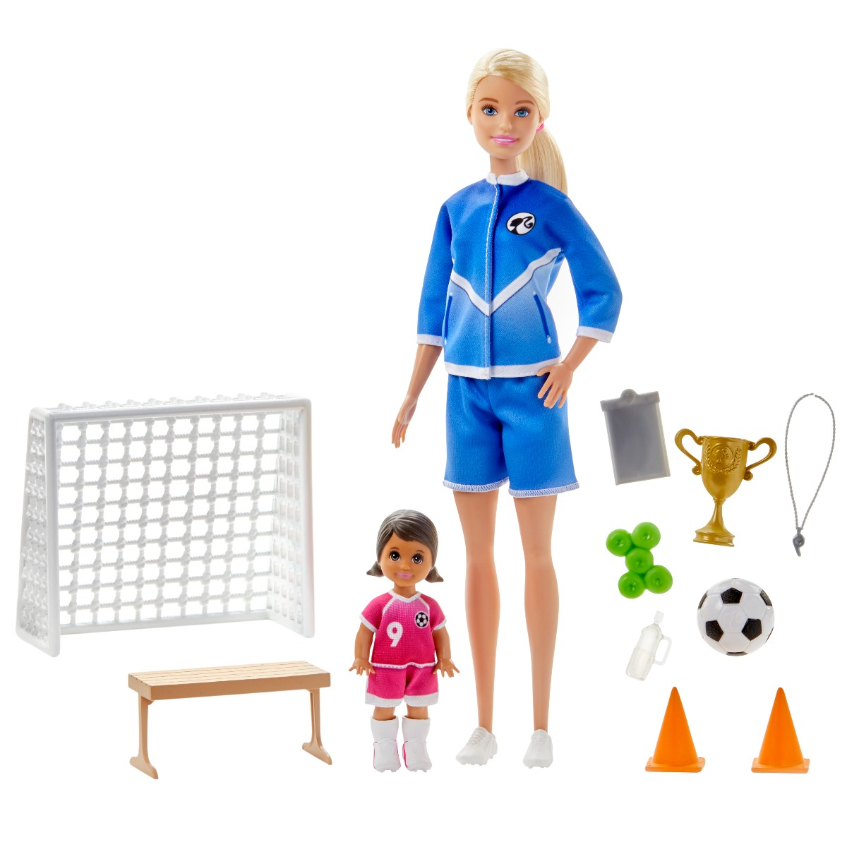 Set papusa Barbie Career, Antrenor de fotbal, GLM47