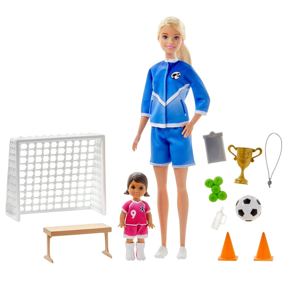 Set papusa Barbie Career, Antrenor de fotbal, GLM47