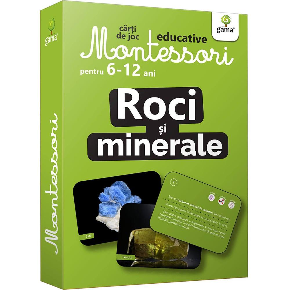 Carti de joc educative Montessori, Roci si minerale 6-12 ani