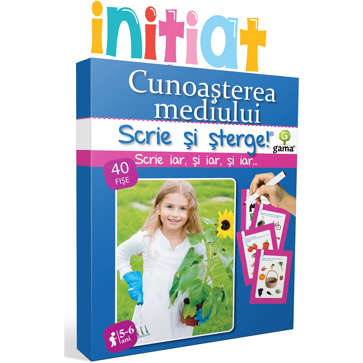Editura Gama, Scrie si sterge Initiat, Cunoasterea mediului 5-6 ani imagine