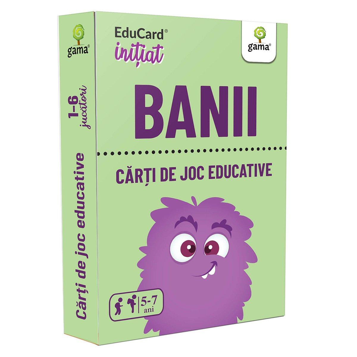 Editura Gama, Carti de joc educative Initiat, Banii