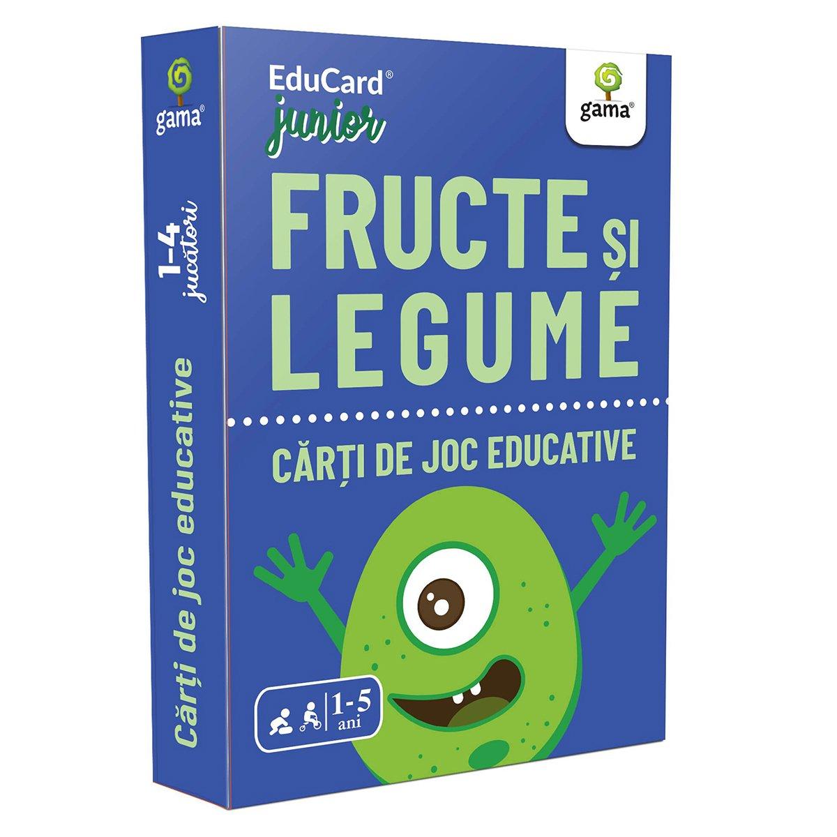 Editura Gama, Carti de joc educative Junior, Fructe si legume