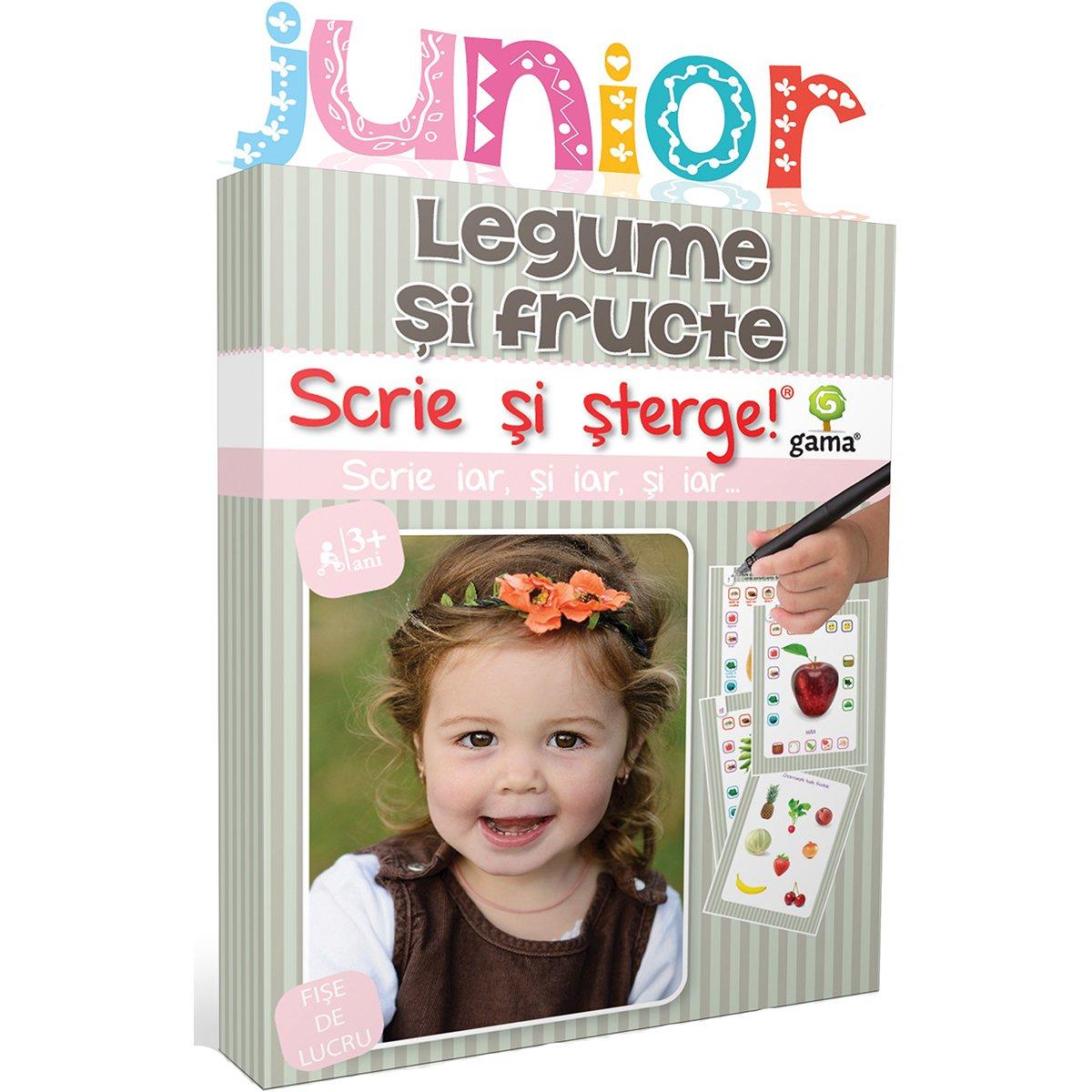 Editura Gama, Scrie si sterge Junior, Legume si fructe imagine