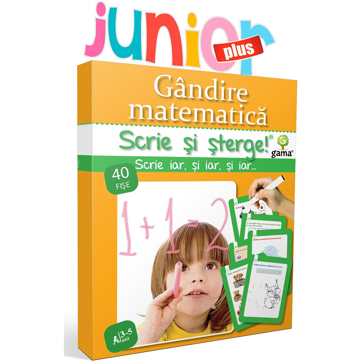 Editura Gama, Scrie si sterge Junior Plus, Gandire matematica 3-5 ani