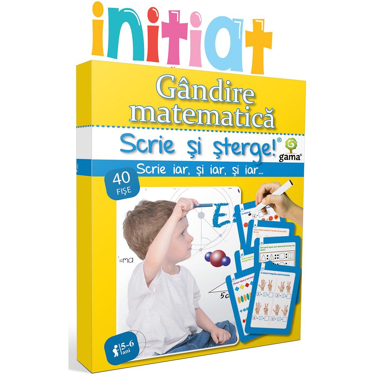 Editura Gama, Scrie si sterge Initiat, Gandire matematica 5-6 ani imagine