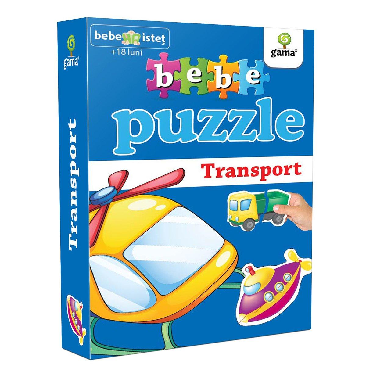 Editura Gama, Bebe Puzzle, Mijloace de transport