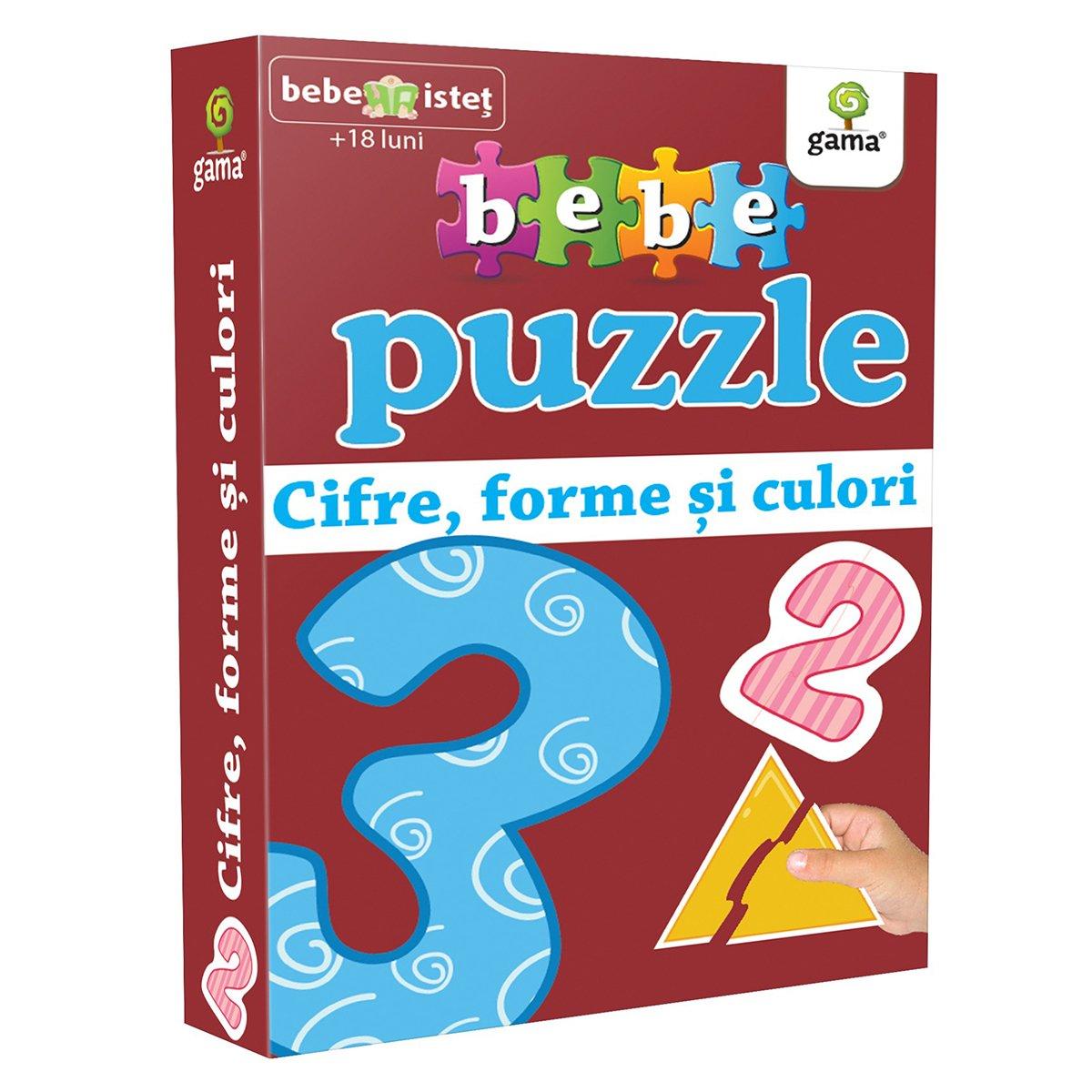 Editura Gama, Bebe Puzzle, Cifre, forme si culori