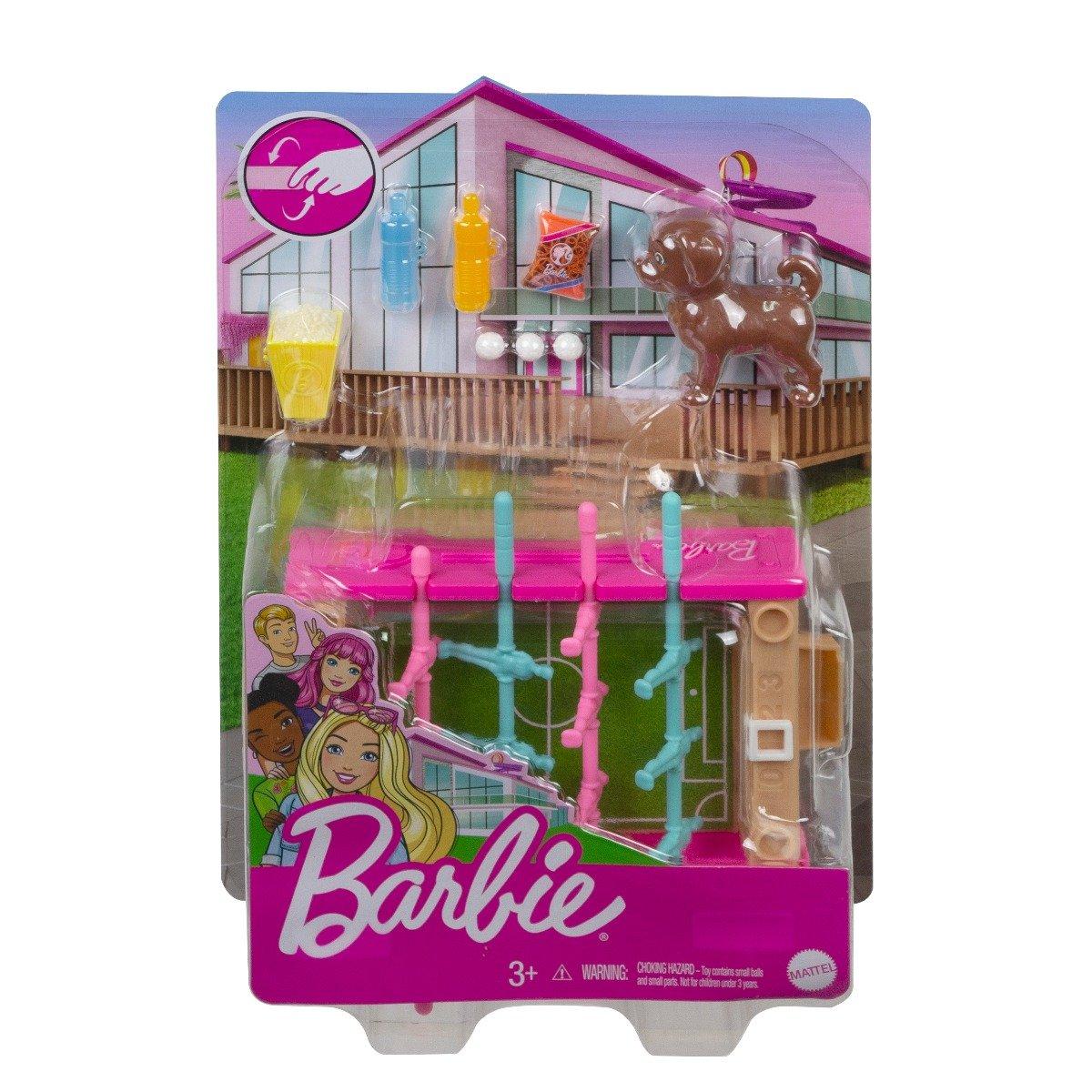 Set de joaca Barbie, Mobilier exterior si catelus, GRG77