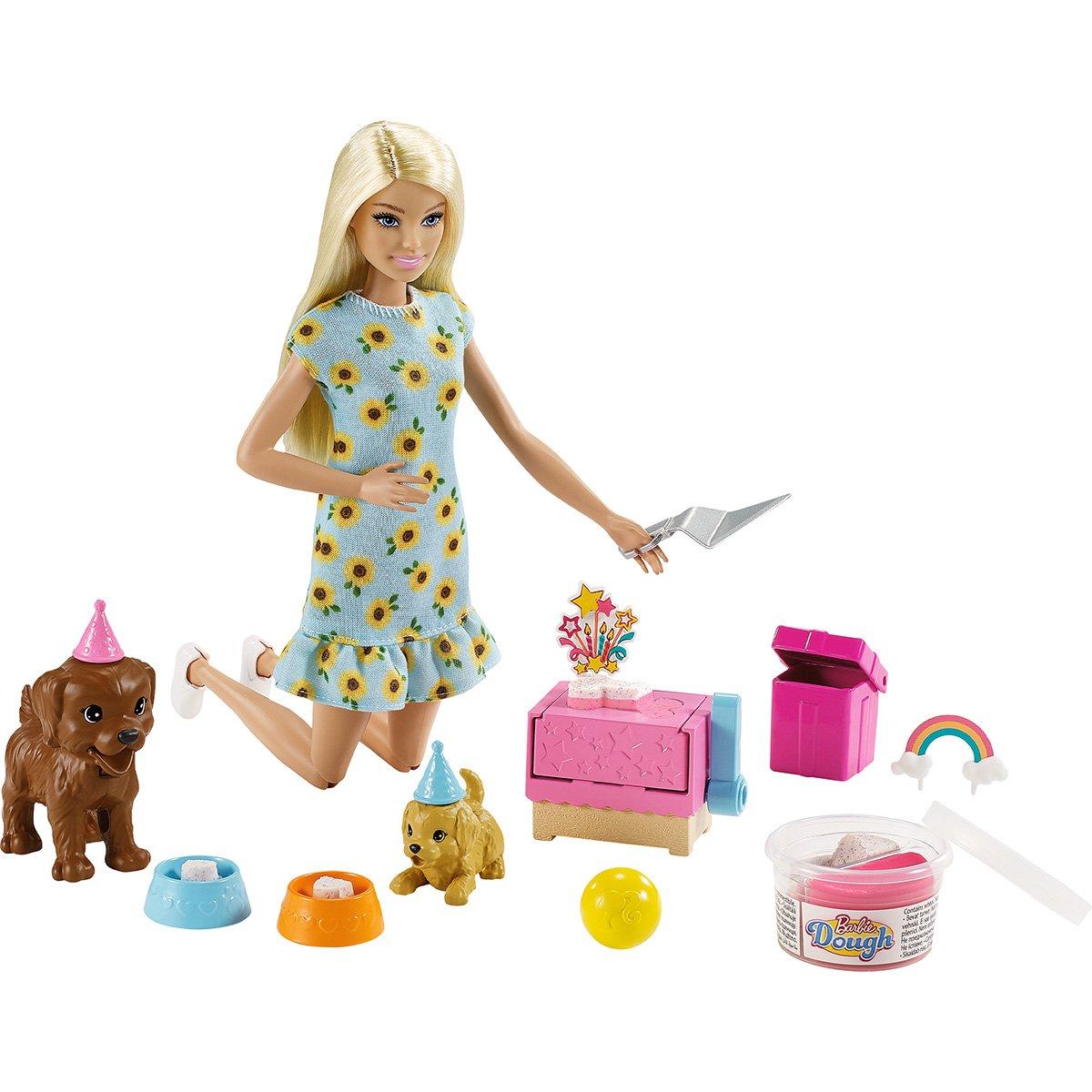 Set Papusa Barbie Family, Petrecerea catelusilor GXV74