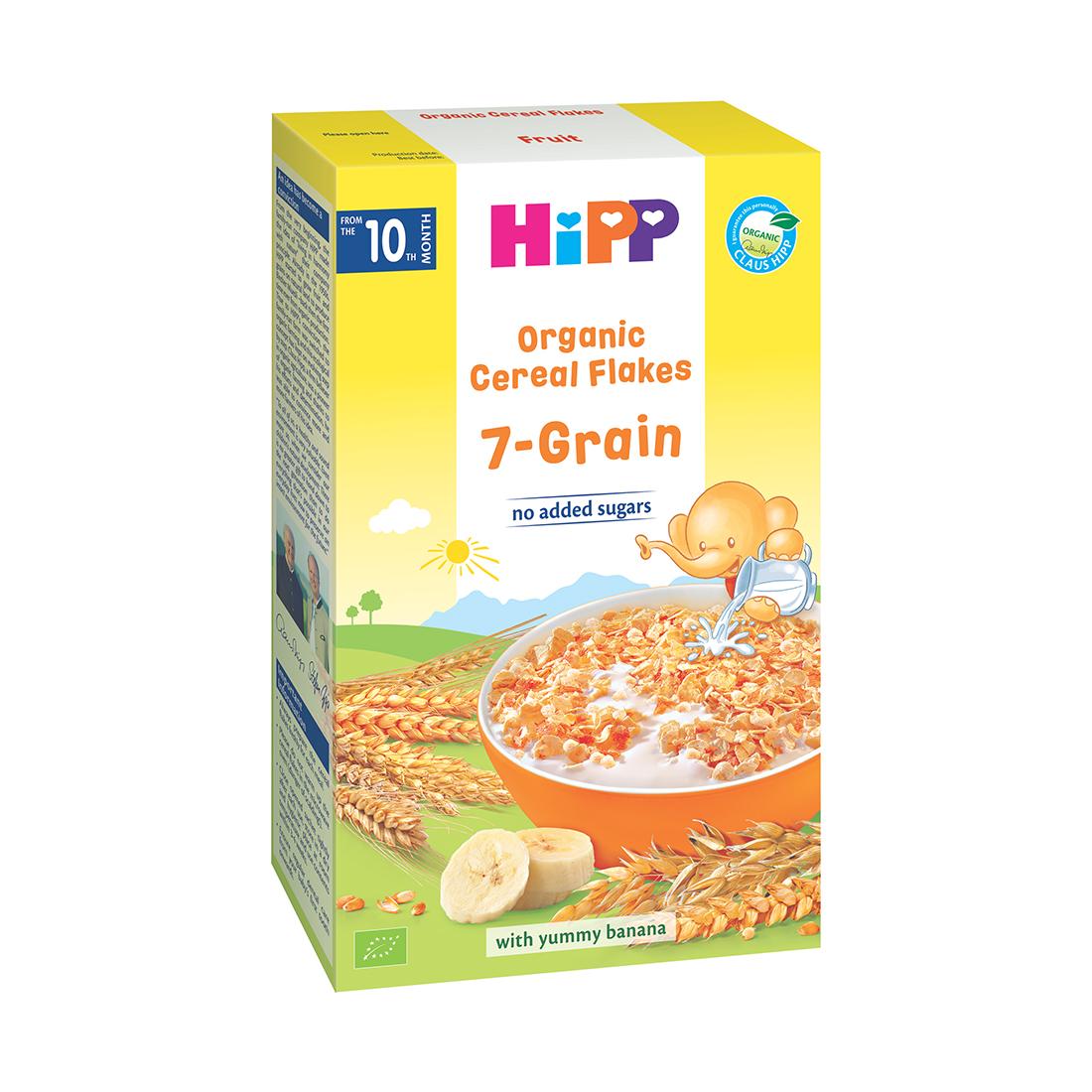 Fulgi de cereale ecologice Hipp - 7 Cereale, 200 g imagine