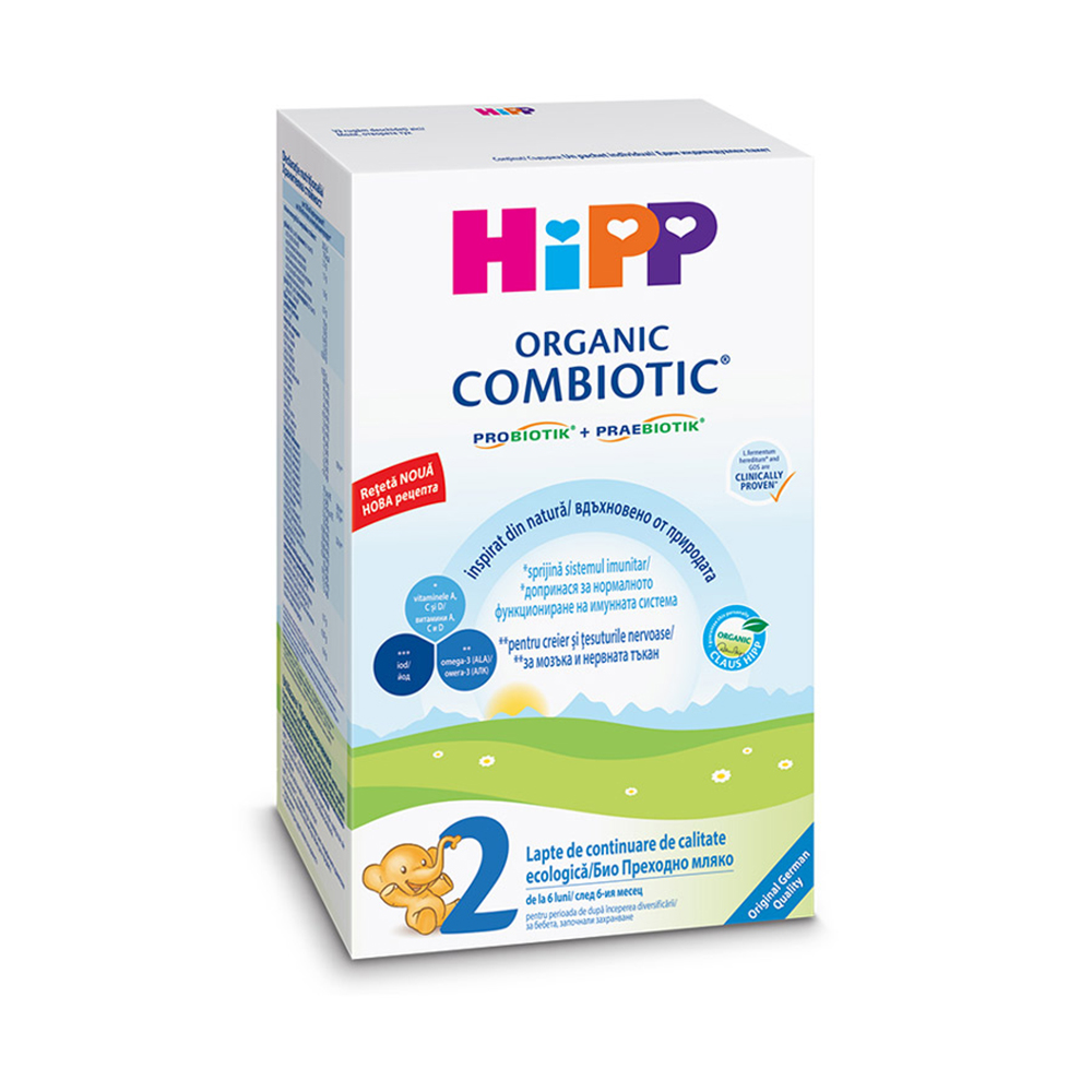 Lapte praf de continuare Organic Combiotic Hipp 2, 300 g, 6 luni+ imagine