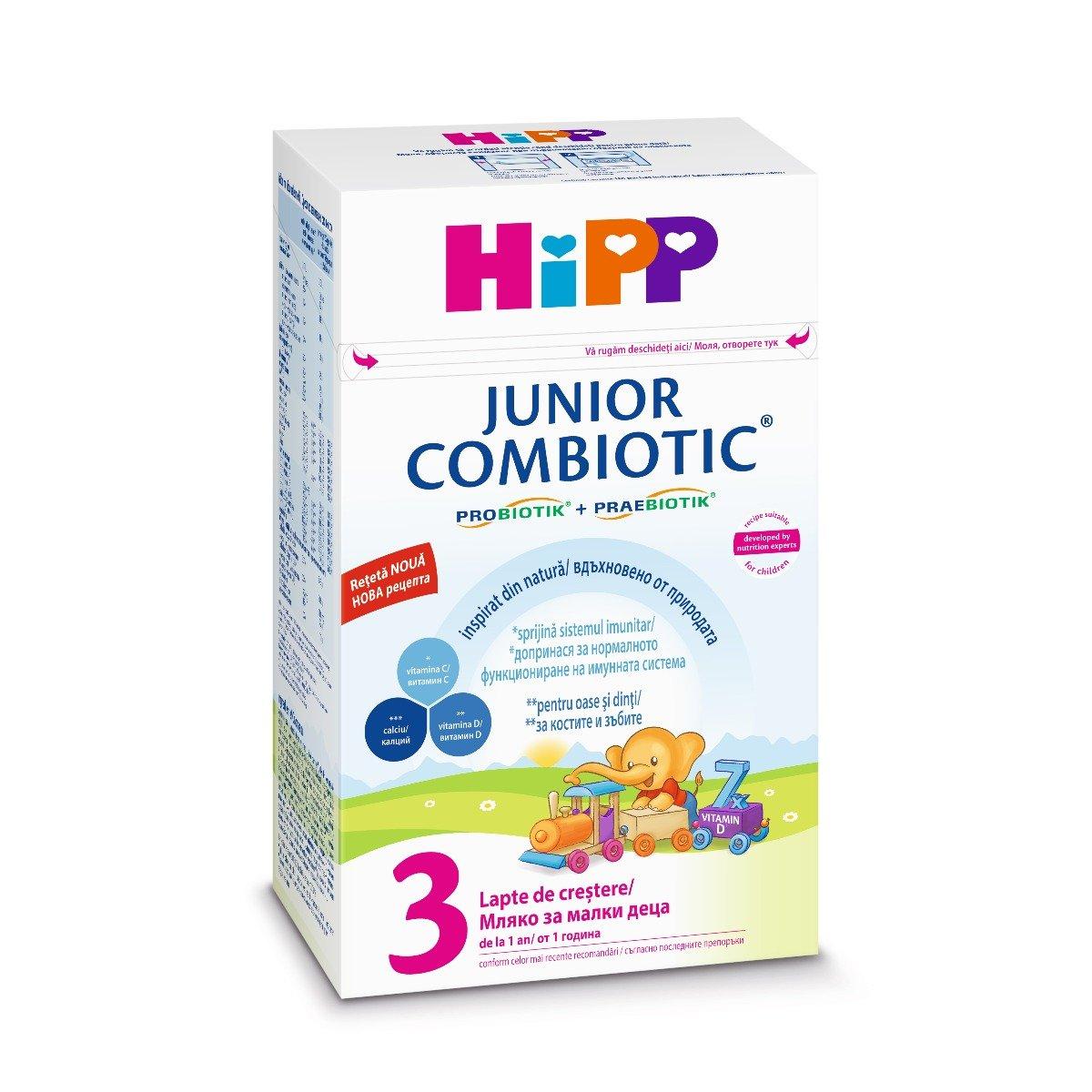 Lapte praf de crestere Junior Combiotic Hipp 3, 500 g, 1 an+ imagine