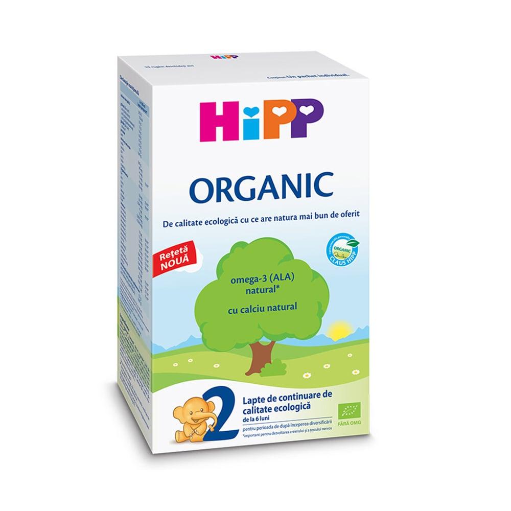Lapte pref de continuare Organic Hipp 2, 300 g, 6 luni+ imagine