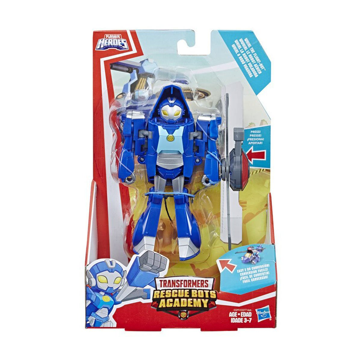 Figurina Transformers Rescue Bots Academy, Whirl The Flight Bot, E3291
