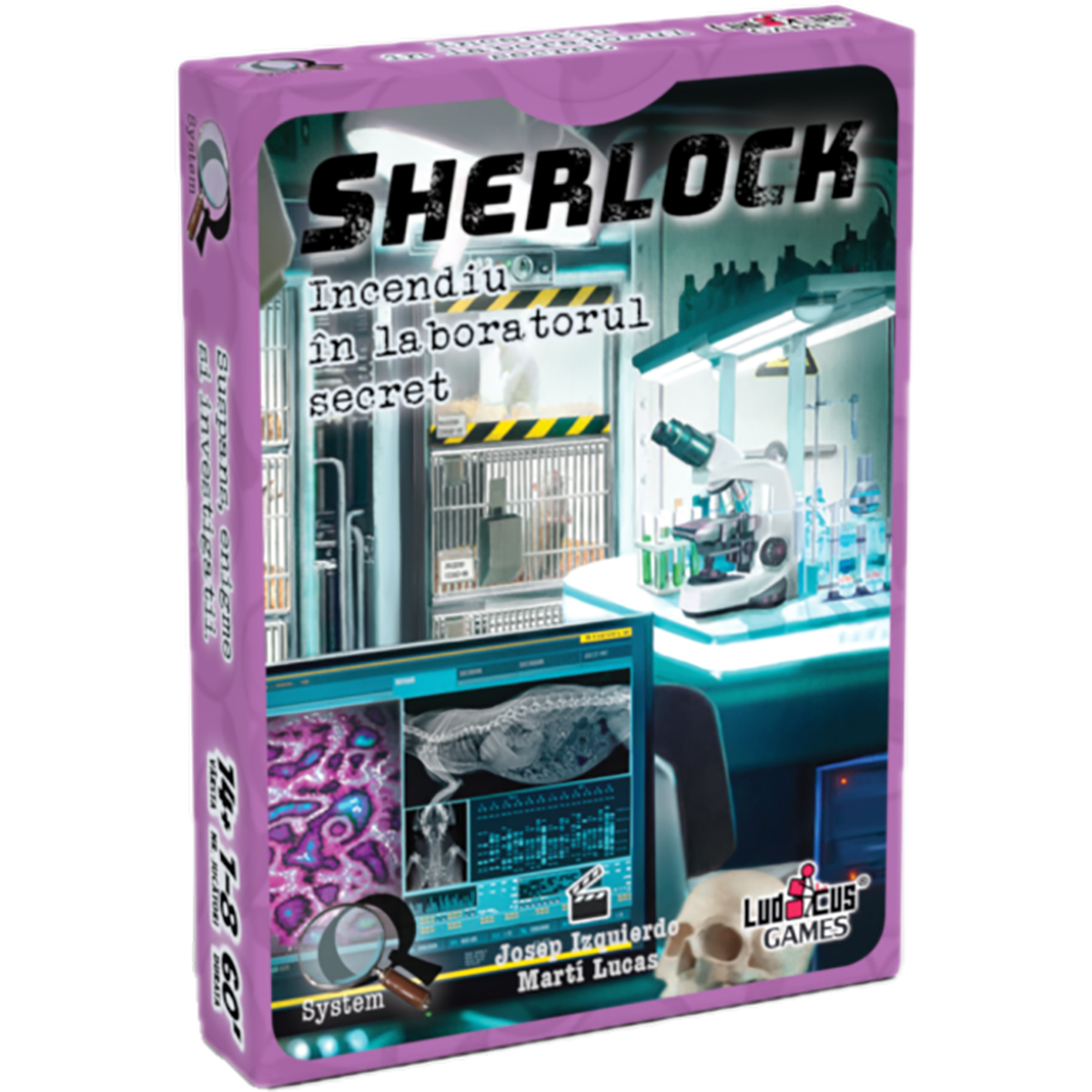Joc de societate Enigma Studio, Sherlock, Q6 Incediu in laboratorul secret