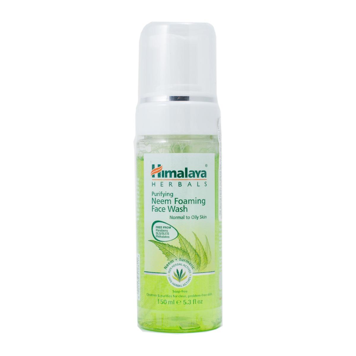 Gel spuma pentru curatarea fetei cu extract de neem Himalaya, 150 ml imagine
