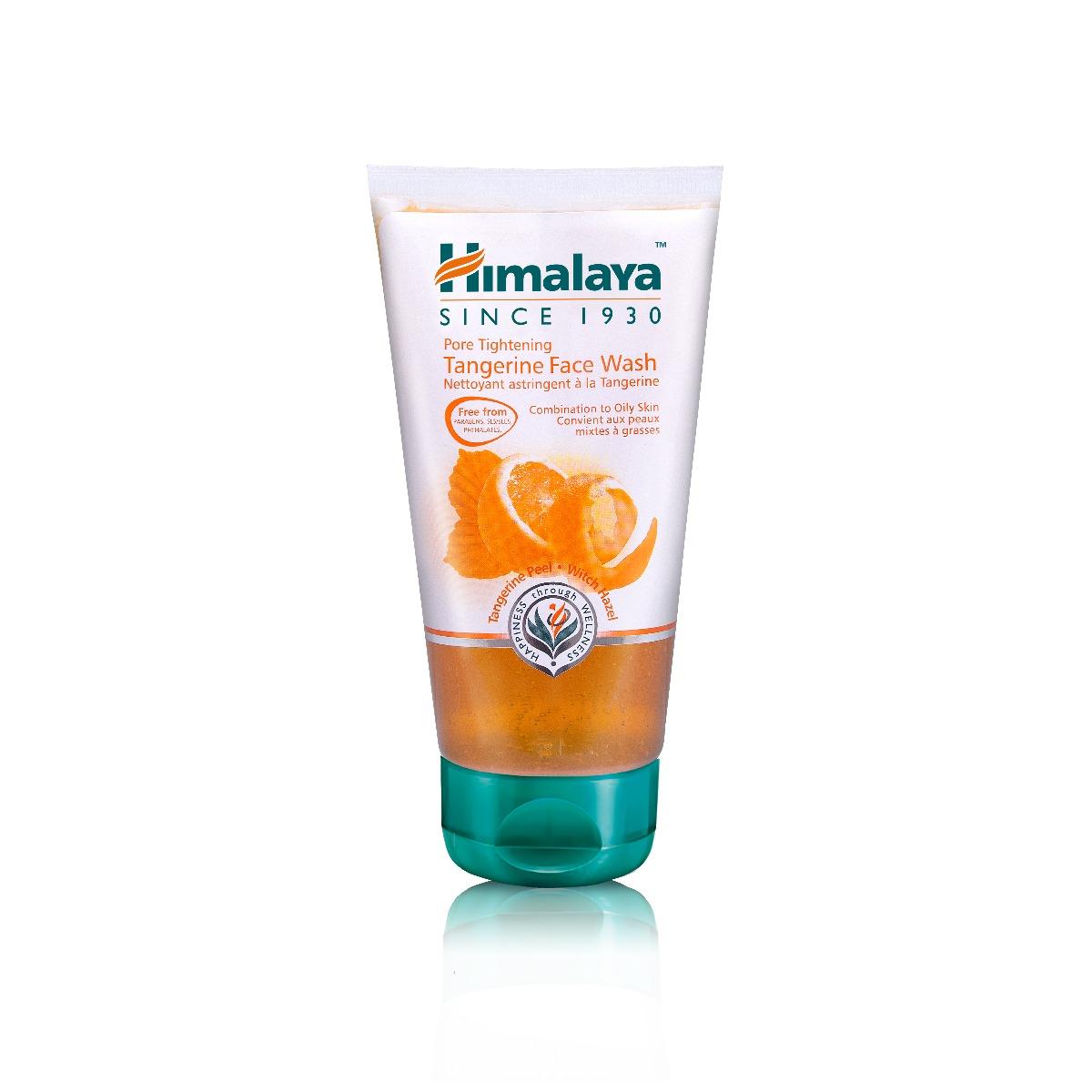 Gel pentru curatarea fetei astringent cu mandarine Himalaya, 150 ml imagine
