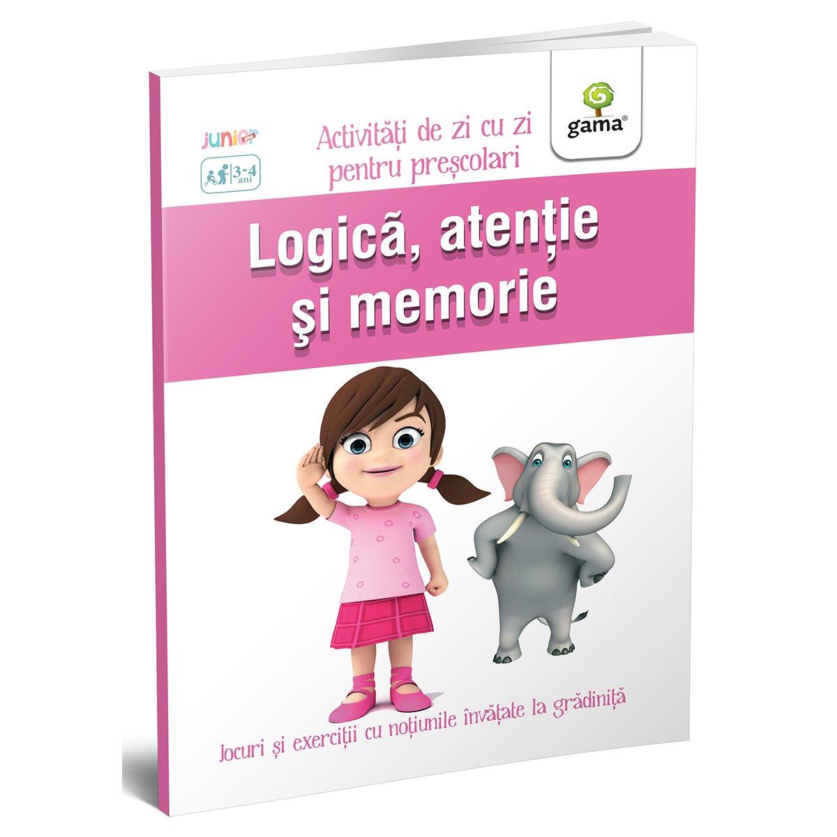 Carte Editura Gama, Logica, atentie si memorie 3-4 ani, Activitati de zi cu zi imagine