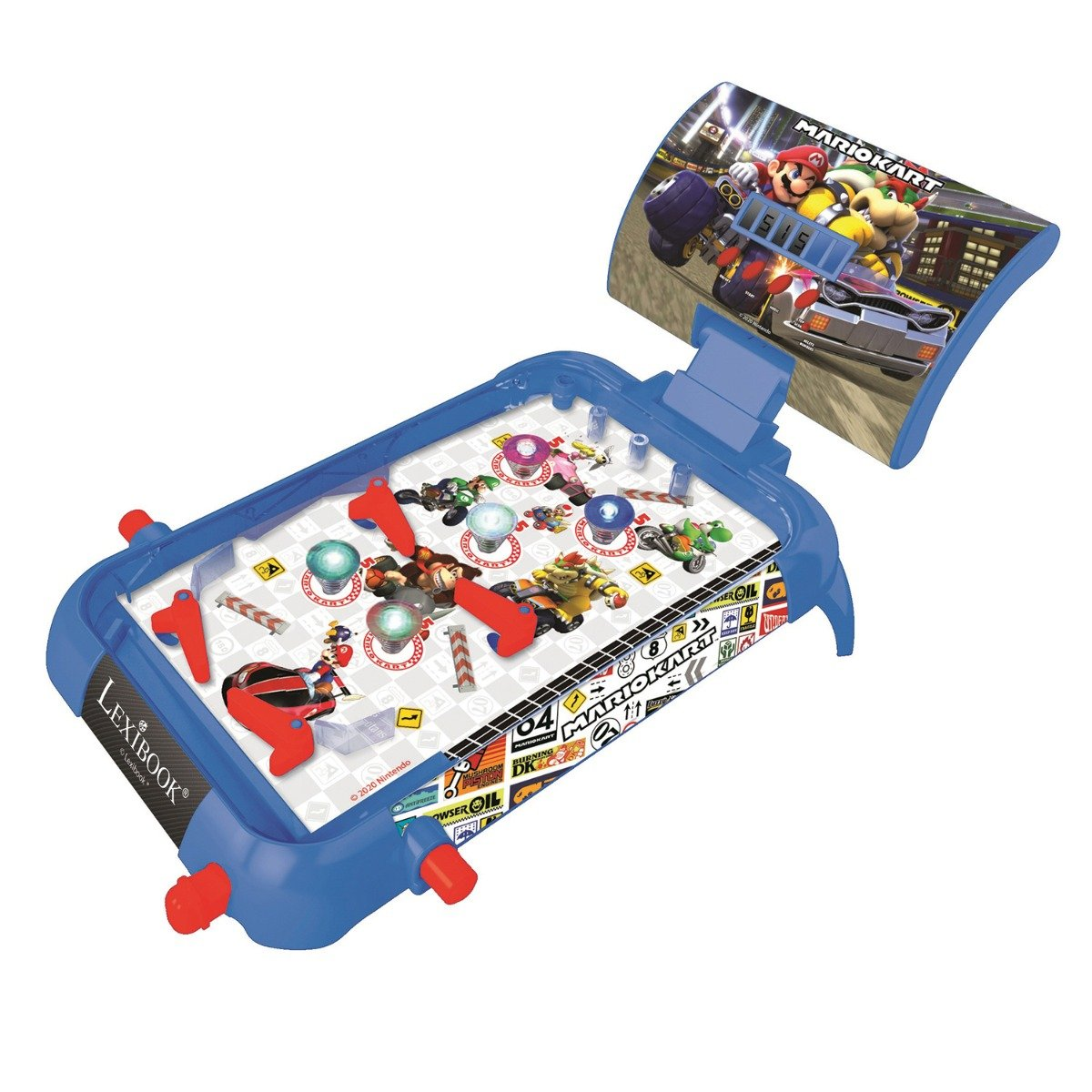 Jucarie interactiva Lexibook, Electronic pinball cu lumini si sunete, Mario Kart