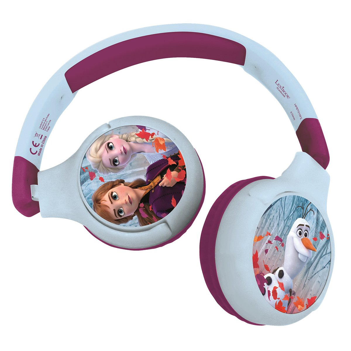 Casti pliabile 2 in 1 Lexibook, Disney Frozen, Jack 3.5 mm, Bluetooth