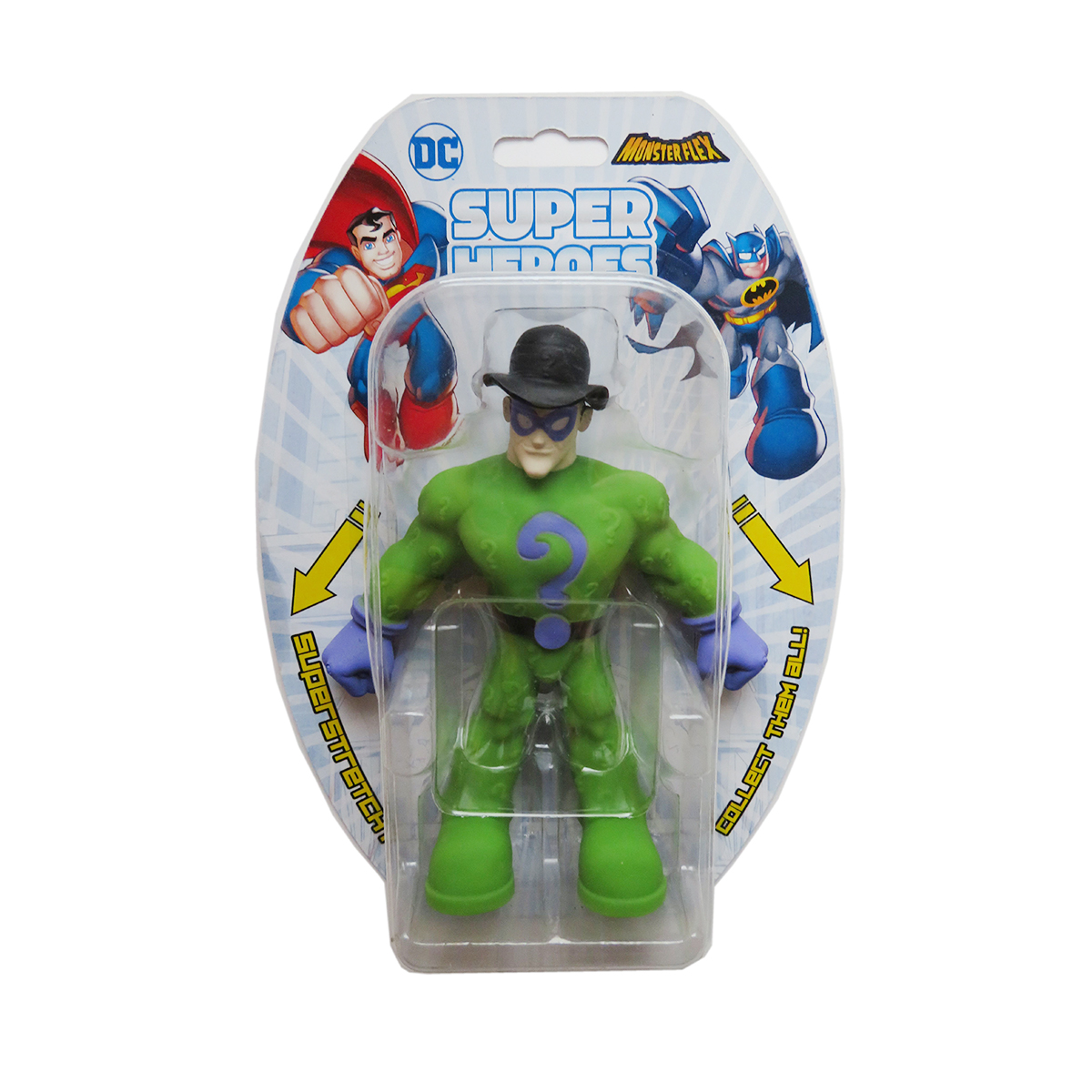 Figurina flexibila Monster Flex, DC Super Heroes, The Riddler