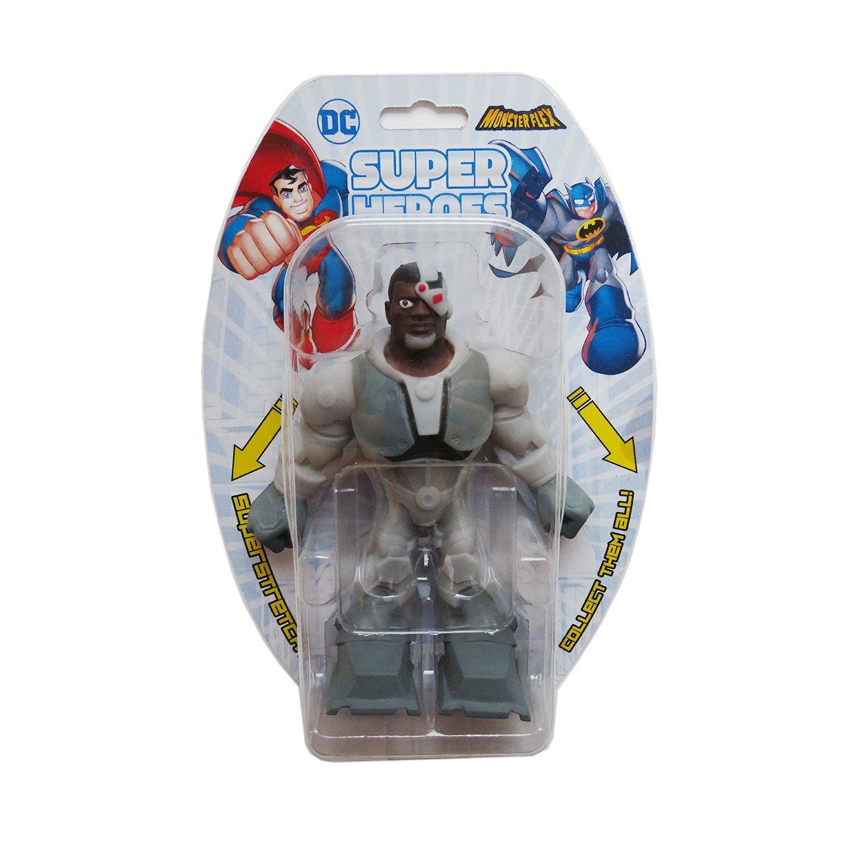 Figurina flexibila Monster Flex, DC Super Heroes, Cyborg