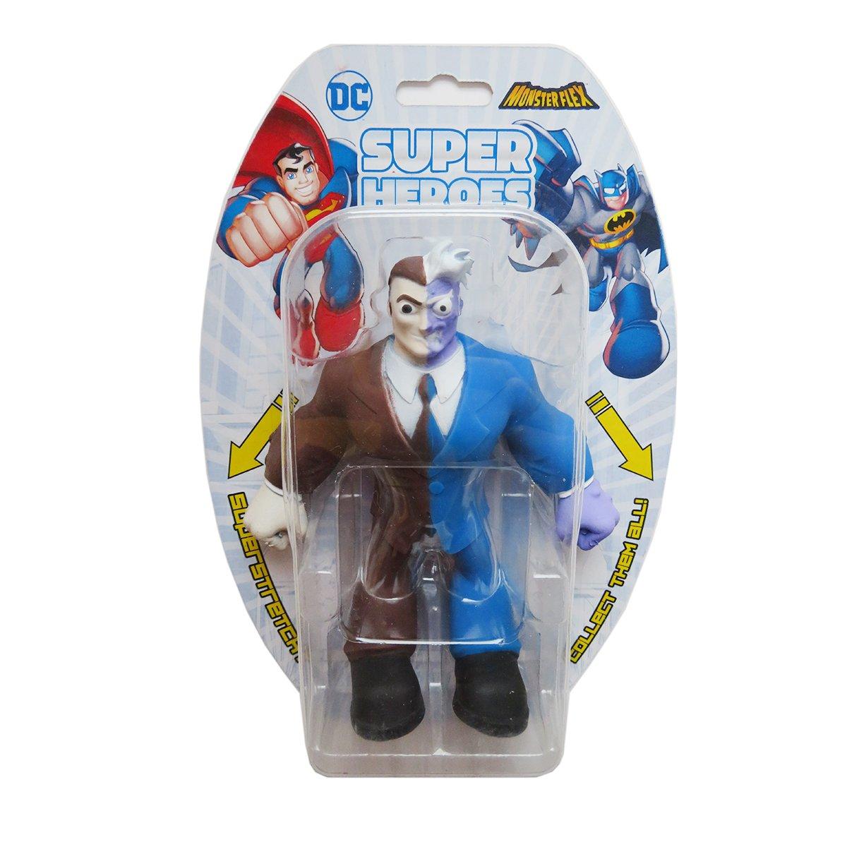 Figurina flexibila Monster Flex, DC Super Heroes, Two-Face