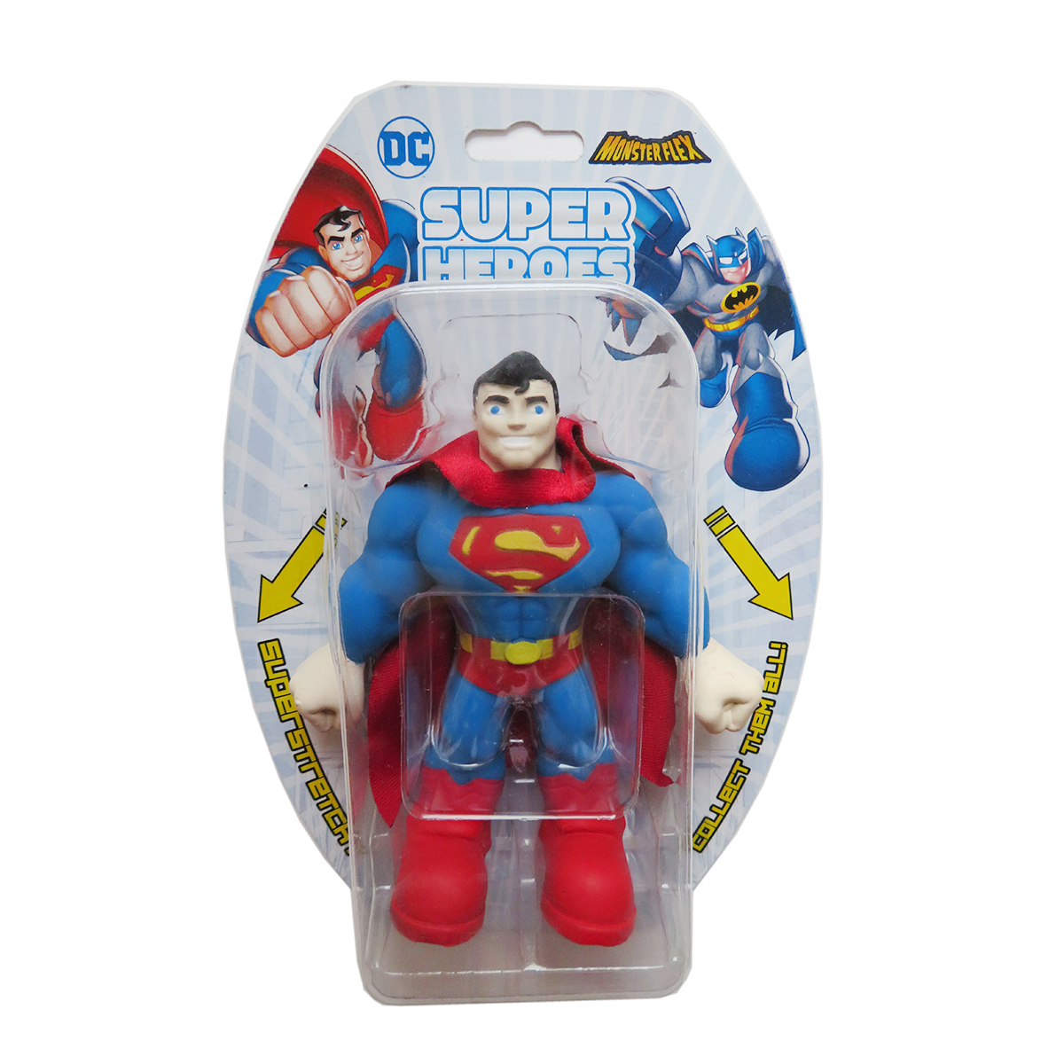 Figurina flexibila Monster Flex, DC Super Heroes, Superman