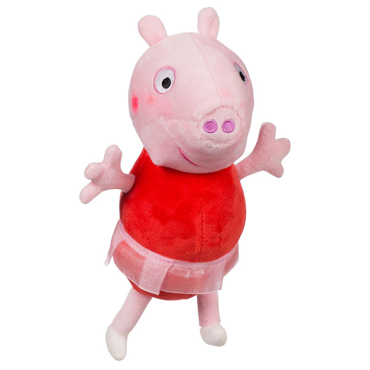 Jucarie de plus Peppa Pig, Peppa balerina, 25 cm