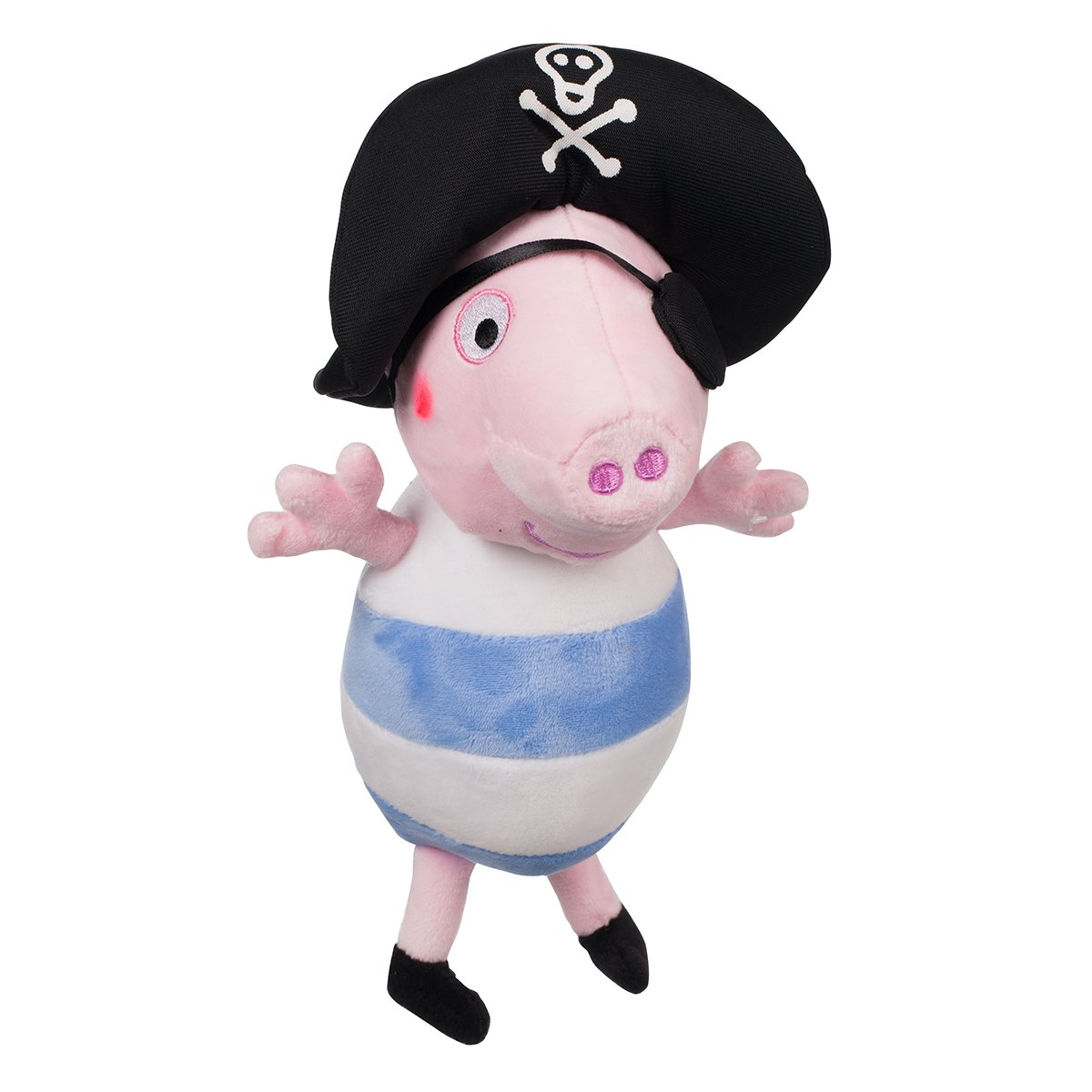 Jucarie de plus Peppa Pig, George pirat, 25 cm