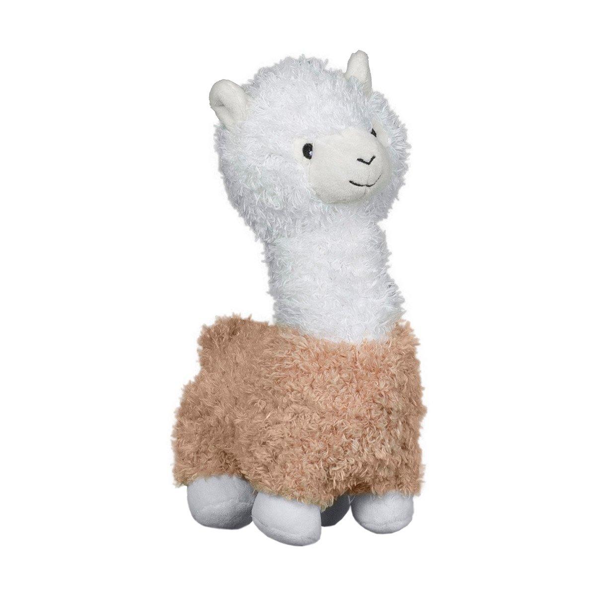 Jucarie de plus Noriel, Alpaca, Alb-Bej, 27 cm