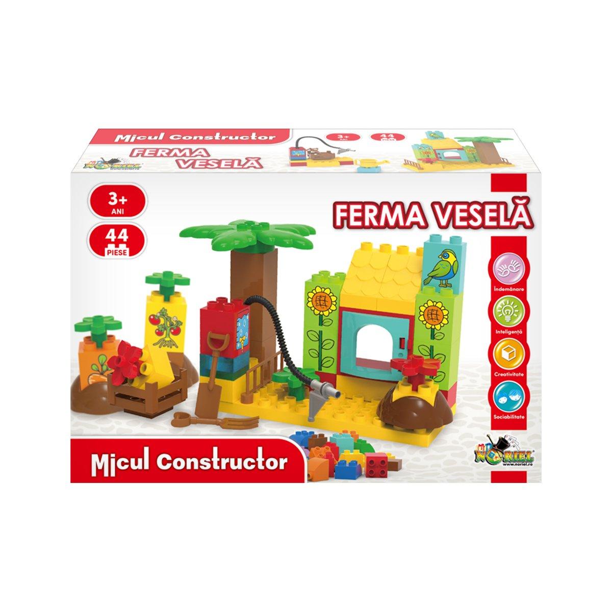 Jucarie de constructie Ferma Vesela, Micul Constructor