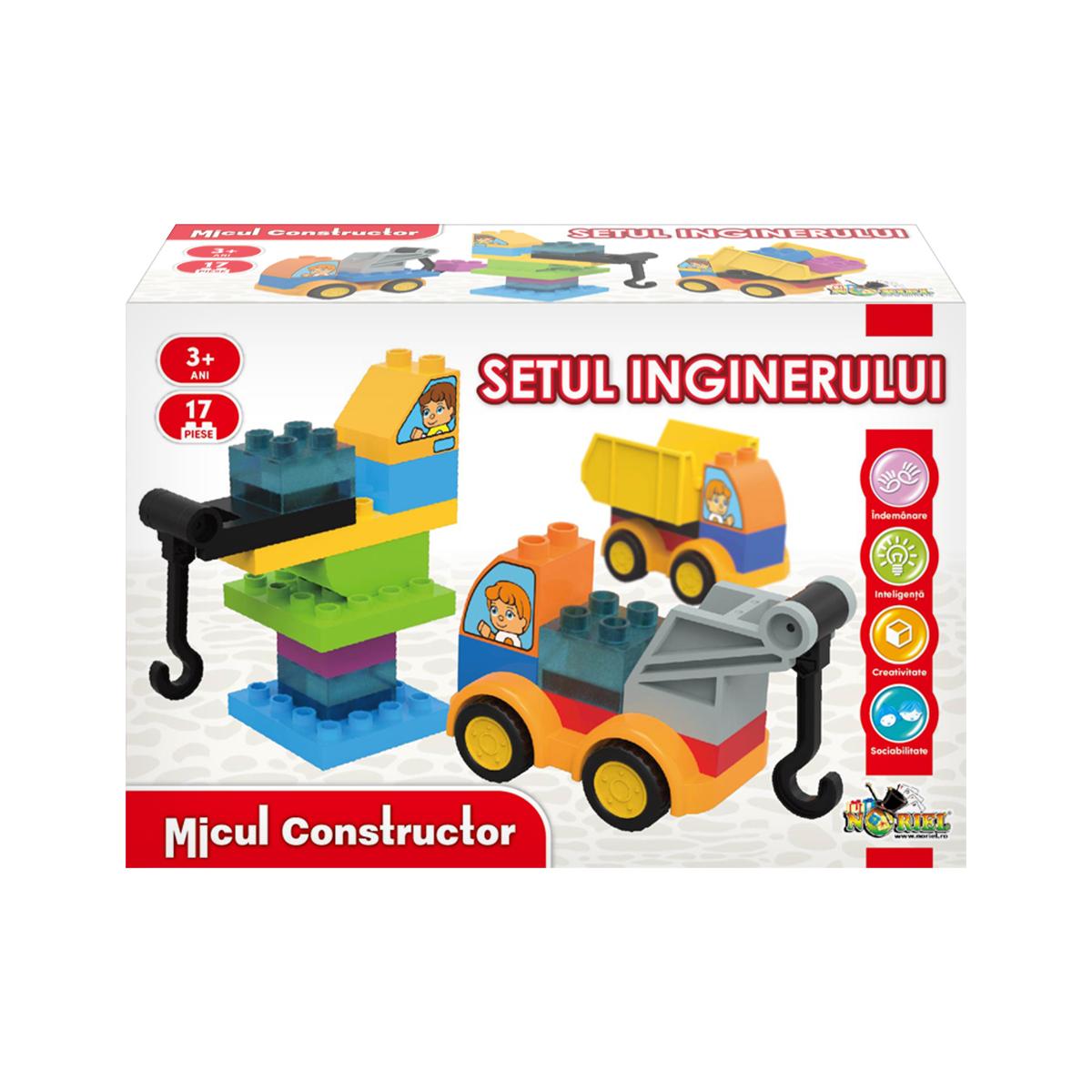 Jucarie de constructie Setul inginerului, Micul Constructor