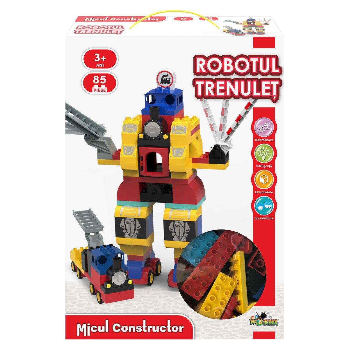Jucarie de constructie Robotul Trenulet, Micul Constructor