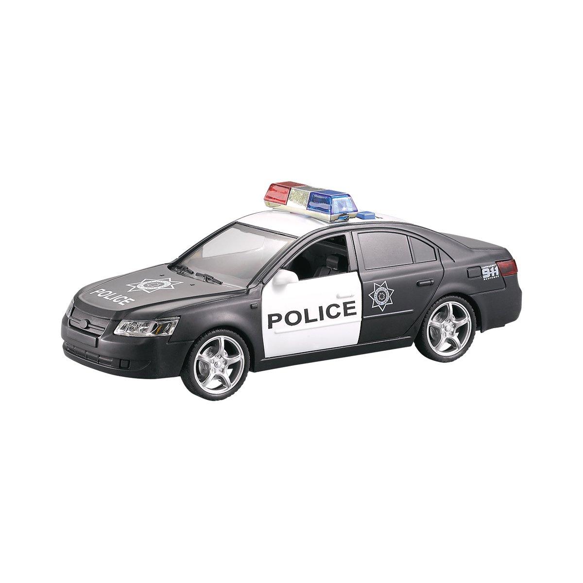 Masina de politie cu lumini si sunete Cool Machines, Negru