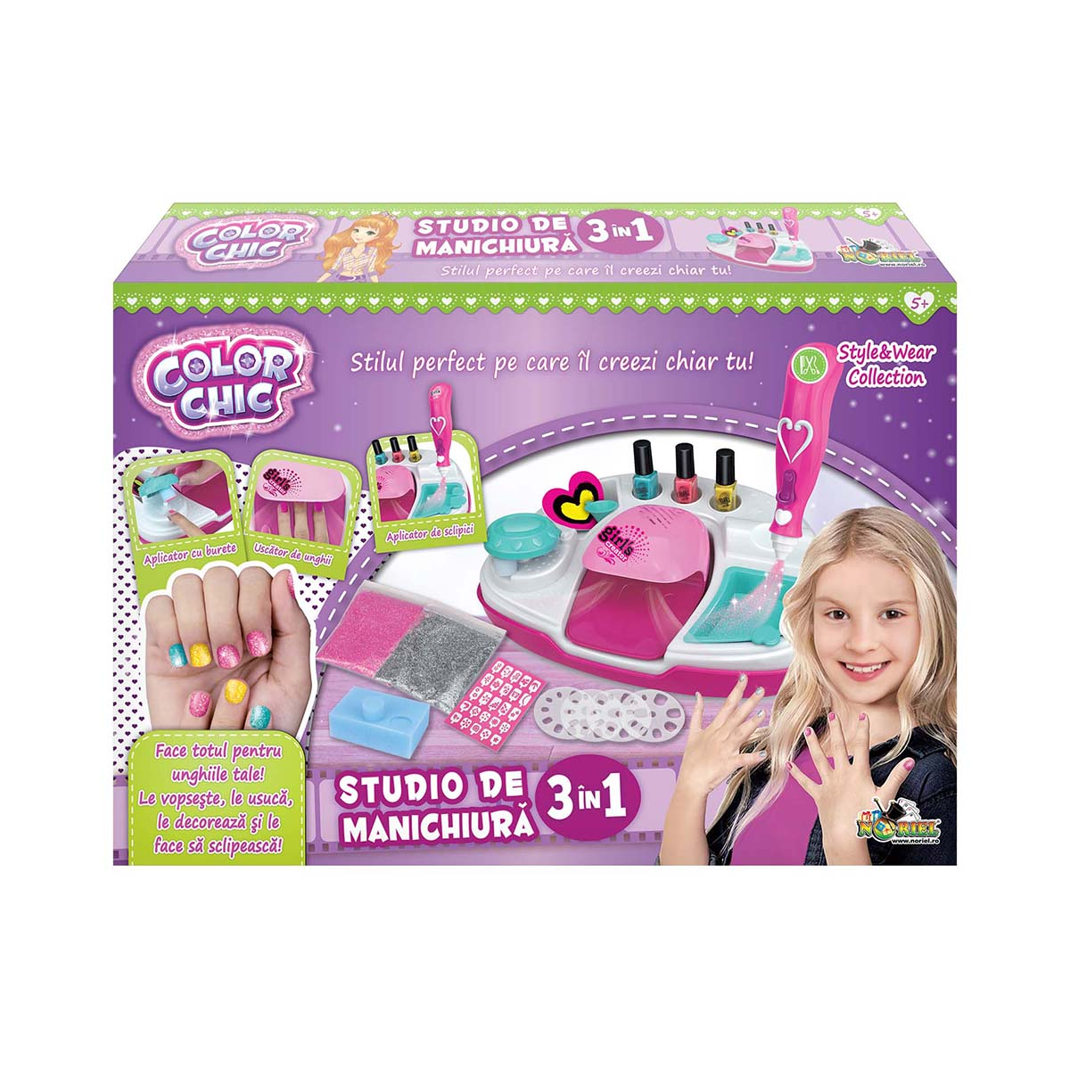 Set de creatie Studio de manichiura 3 in 1, Color Chic
