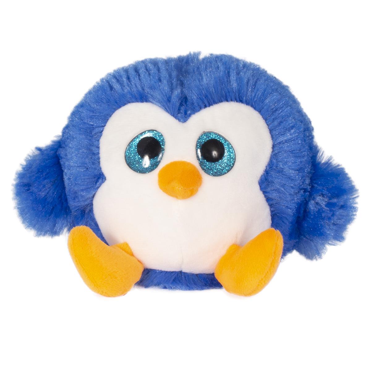 Jucarie de plus animalut cu ochi mari, Noriel, Albastru, 11 cm