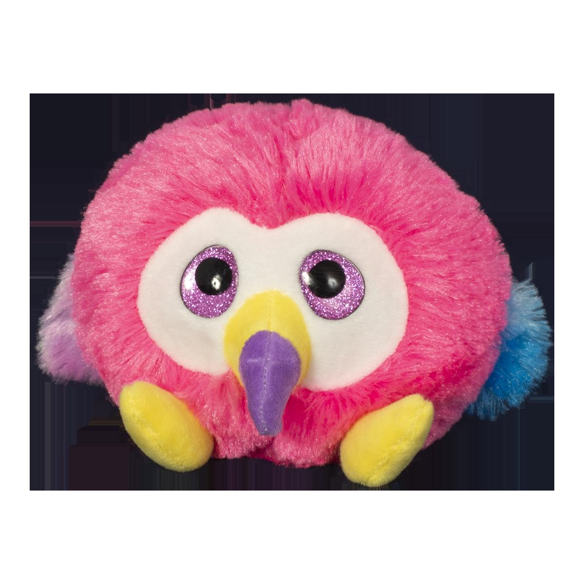 Jucarie de plus animalut cu ochi mari, Noriel, Roz, 11 cm