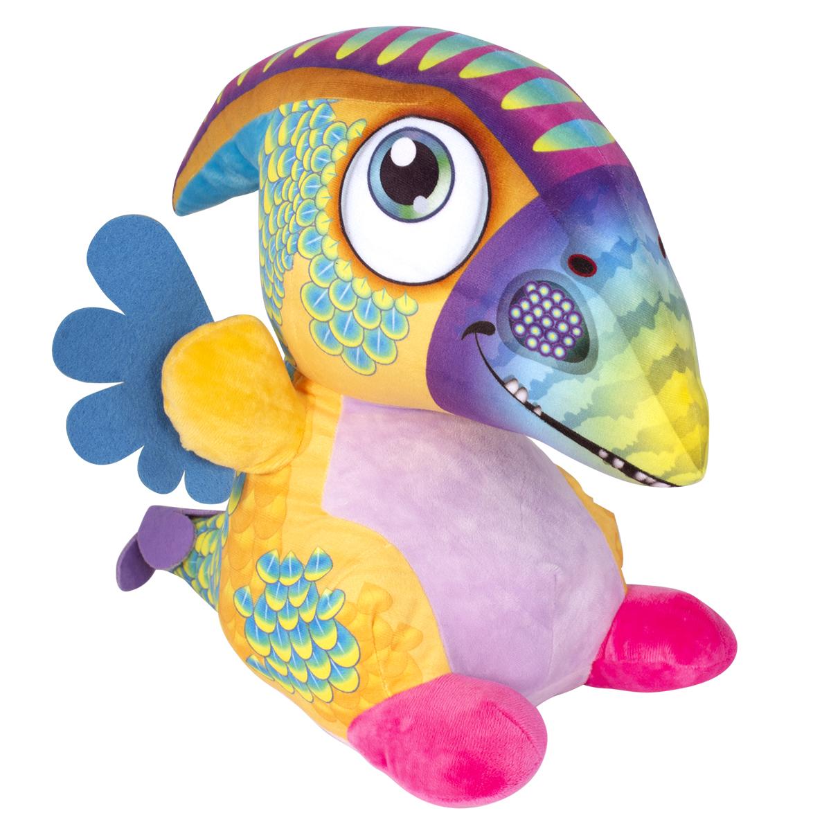 Jucarie de plus Noriel, Dragon cu cioc, Multicolor, 40 cm