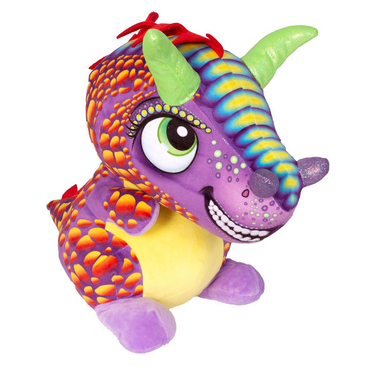 Jucarie de plus Noriel, Dragon cu creasta, Multicolor, 40 cm