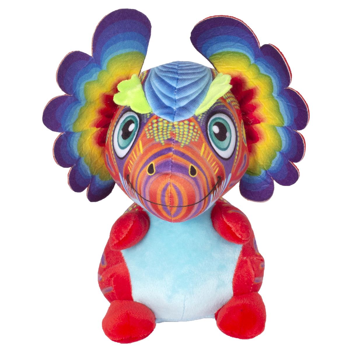 Jucarie de plus Noriel, Dragon cu urechi, Multicolor, 40 cm