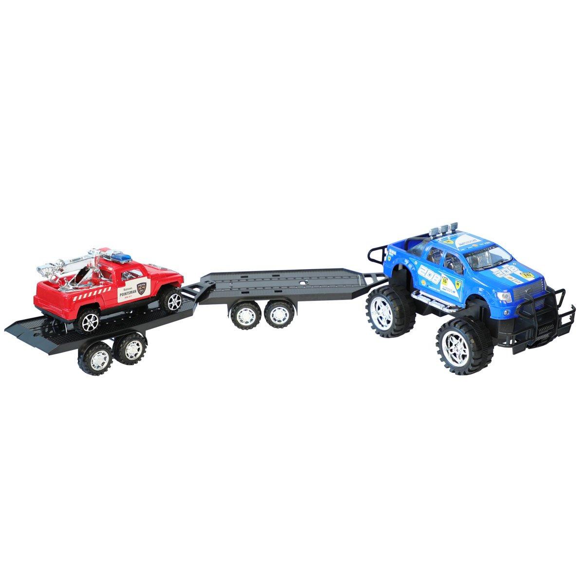 Transportor de vehicule cu masina de interventie Noriel