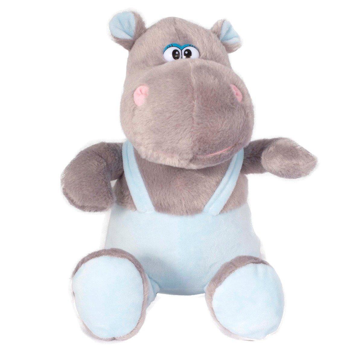 Jucarie de plus Noriel, Hipopotam cu pantaloni, 27 cm