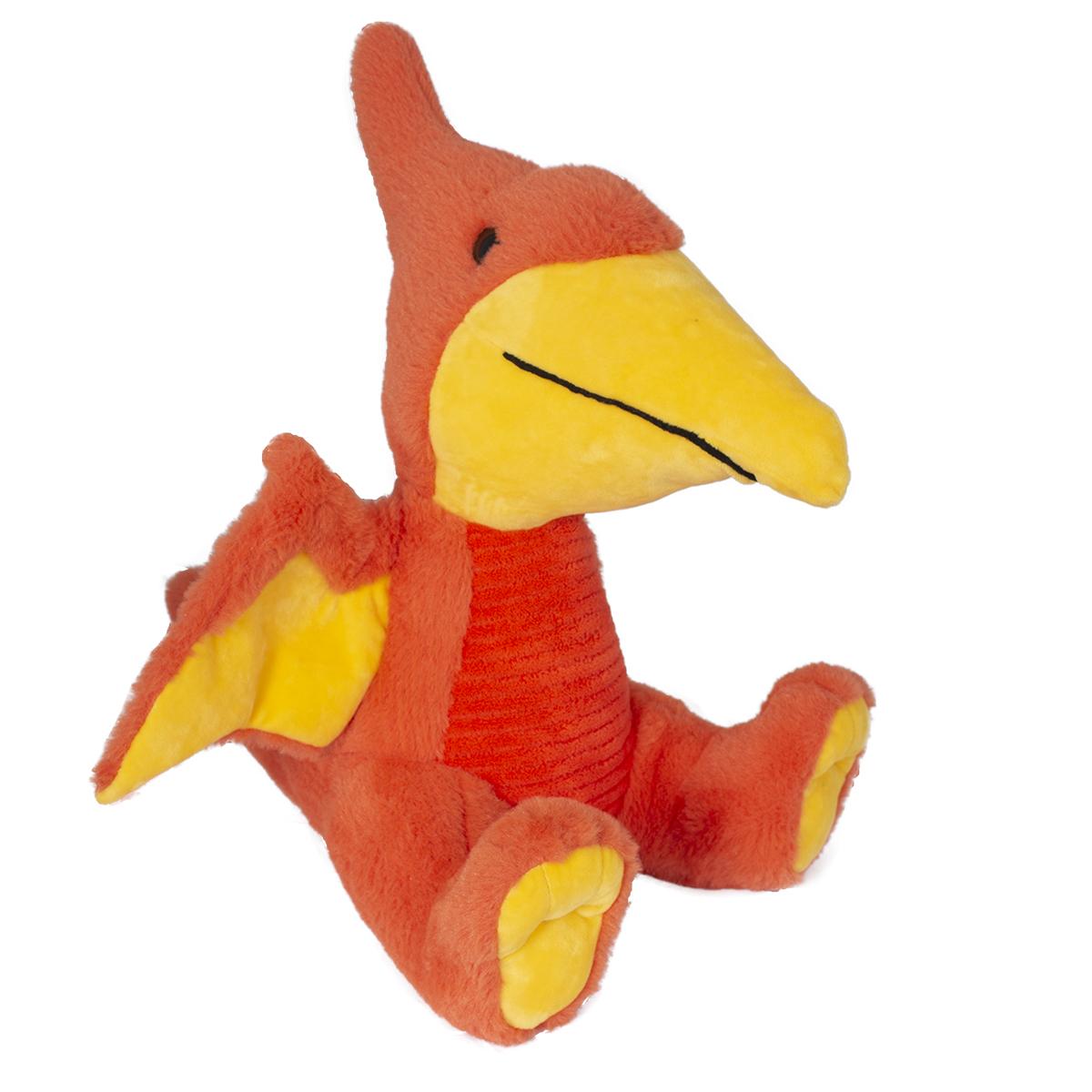 Jucarie de plus Noriel, Dinozaur, Portocaliu, 31 cm
